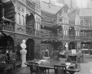 The library's interior in 1898. Source:  William James Topley/ Library and Archives Canada