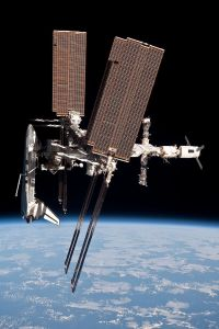 Endeavour docked to ISS during its last mission