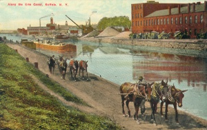Along the Erie Canal, Buffalo, N.Y. (Buffalo News Co.); c1908