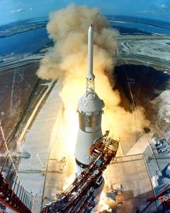 Launch of Apollo 11. NASA Photo.