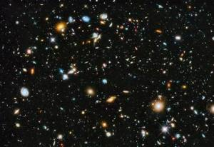 Hubble Ultra Deep Field image released in 2014, which shows about 10,000 galaxies. NASA/ESA Photograph