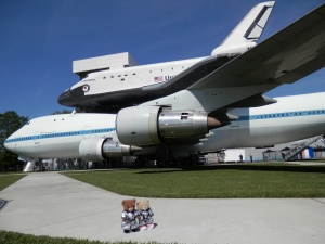 Independence Plaza - Full-scale, high-fidelity shuttle replica Independence on the actual Shuttle Aircraft Carrier 905