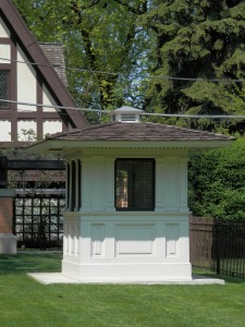 Ticket booth from the World's Columbian Exposition 1893, in the garden of the Hills-DeCaro House, Oak Park