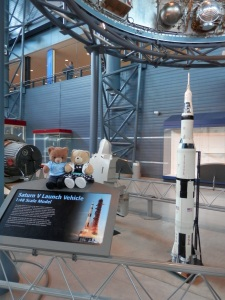 1:48 Scale Model of Saturn V Launch Vehicle