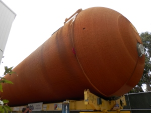 Last Space Shuttle External Tank on Earth