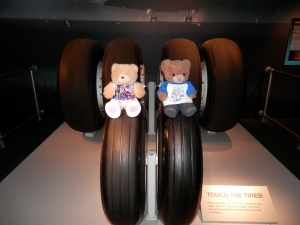 These tires flew into space on Endeavour's final flight, STS-134. The rubber is worn from the landing at NASA's Kennedy Space Centre in Florida