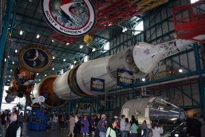 Saturn V on display in the Apollo / Saturn V Centre, Kennedy Space Centre
