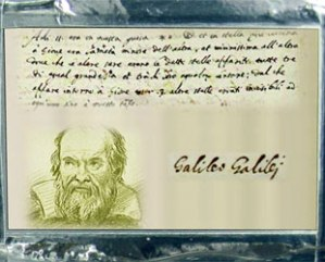 A plaque dedicated to and depicting Italian astronomer Galileo Galilei as seen on board NASA's Juno spacecraft. (NASA)