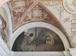 Library of Congress - East Corridor, Great Hall. Manuscript Book mural in Evolution of the Book series, John W. Alexander.