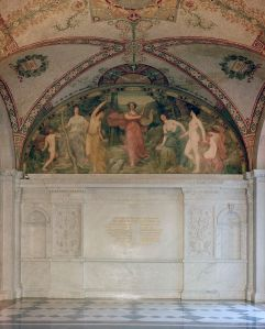 Library of Congress - South Corridor, Great Hall. Lyric Poetry mural by Henry O. Walker.