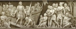 Capitol Dome - Frieze of American History - The Landing of Columbus