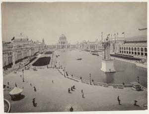 World's Columbian Exposition - Court of Honor looking west on the main basin