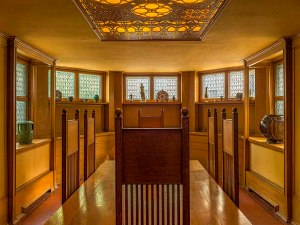 Frank Lloyd Wright Home , Oak Park - Dining Room