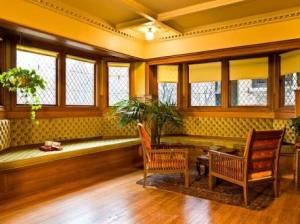 Frank Lloyd Wright Home , Oak Park - Living Room