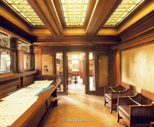 Frank Lloyd Wright Studio,  Oak Park - Presentation Room www.ambienceimages.co.uk
