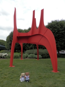 National Gallery of Art Sculpture Garden - Cheval Rouge (Red Horse), by Alexander Calder,  1974, painted sheet metal