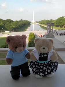 Lincoln Memorial Reflecting Pool with Washington Monument in the background
