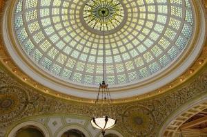 Chicago Cultural Centre, 1897, by Shepley, Rutan & Coolidge - Tiffany dome in Preston Bradley Hall