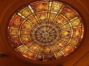 Art Institute of Chicago - Tiffany dome in Fullerton Hall