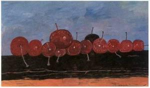 Cherries, by Philip Guston (1976)