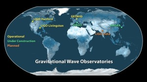 Gravitational-Wave Observatories Across the Globe Image Credit: Caltech/MIT/LIGO Lab