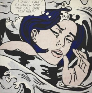 Drowning Girl, by Roy Lichtenstein (1963) at MoMA