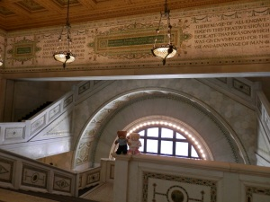 Chicago Cultural Centre, 1897, by Shepley, Rutan & Coolidge - Top of the grand staircase