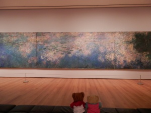 Water Lilies, by Claude Monet (1914-1926, 3 panels) at MoMA