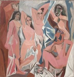 Les Demoiselles d'Avignon, by Pablo Picasso (1907)