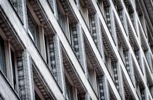 Sullivan Centre - detail of terracotta exterior