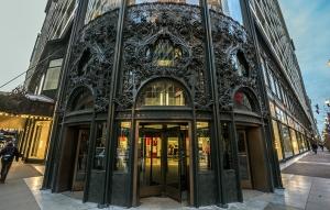 Sullivan Centre - detail of corner entrance
