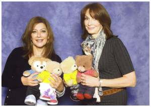 With Marina Sirtis and Gates McFadden