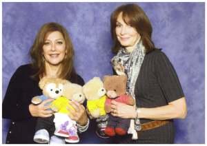 With Marina Sirtis and Gates McFadden