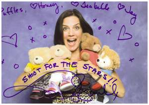 With Terry Farrell