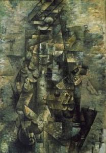 Man with a Guitar, by Georges Braque (1911)