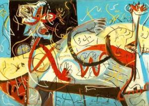 Stenographic Figure, by Jackson Pollock (1942)