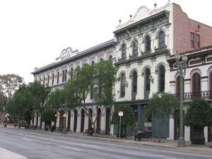El Pueblo de Los Angeles - Pico House (1869-70) and Merced Theatre (1870)