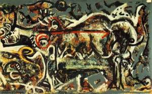 The She-Wolf, by Jackson Pollock (1943)