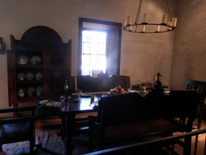 El Pueblo de Los Angeles - Interior of Avila Adobe (built ca 1818, oldest house in LA)