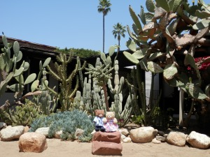 El Pueblo de Los Angeles - Garden of Avila Adobe (built ca 1818, oldest house in LA)