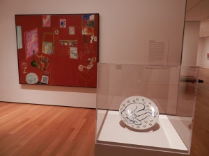 The Red Studio, by Henri Matisse (1911) - The plate on display was in Matisse's studio and is featured in the painting