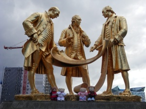 Boulton, Murdock and Watt statue by William Bloye