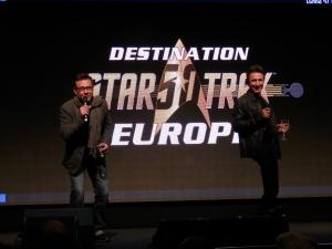 Dominic Keating (Lieutenant Malcolm Reed, Star Trek Enterprise) and Connor Trinneer (Commander Trip Tucker, Star Trek Enterprise)