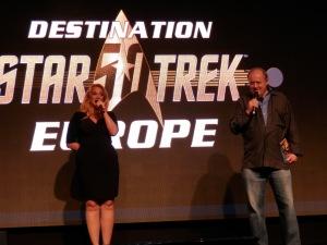 Chase Masterson (Leeta, Star Trek DS9) and Robert O'Reilly (Gowron, Star Trek DS9)