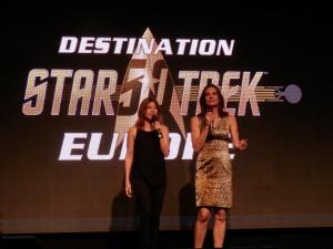 Nicole de Boer (Ezri Dax, Star Trek DS9) and Terry Farell (Jadzia Dax, Star Trek DS9)