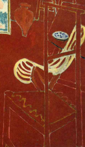 Chair (detail), The Red Studio, by Henri Matisse (1911)
