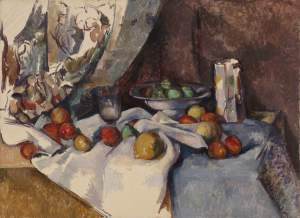 Still Life with Apples, by Paul Cézanne (1895-98)