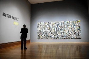 Mural, by Jackson Pollock (1943) at University of Iowa Museum of Art