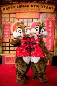 Chip and Dale celebrate the Lunar New Year