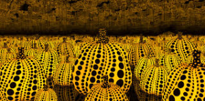 Yayoi Kusama, All the Eternal Love I Have for the Pumpkins, 2016. Wood, mirror, plastic, black glass, LED  Collection of the artist. Courtesy of Ota Fine Arts, Tokyo / Singapore and Victoria Miro, London. © Yayoi Kusama